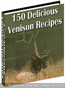 Venison (Deer)/150 Recipe/EBook/Free Shipping/Cookbook